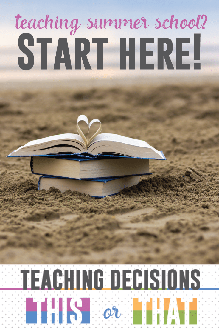 Teaching summer school? Ask yourself these three questions before you start lesson planning.