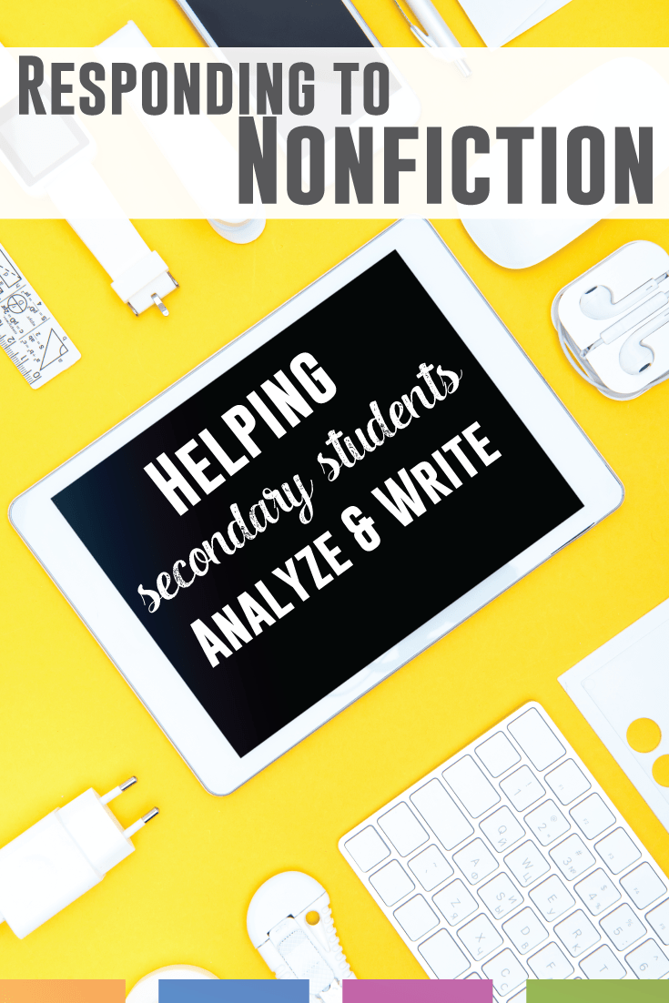 Student nonfiction - helping students construct positive and thoughtful responses to nonfiction.