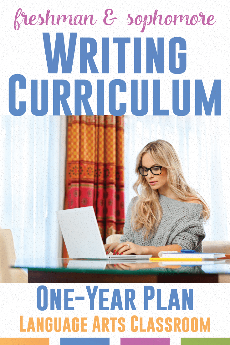 Looking for where to start with a writing curriculum? This outlines the basics of a freshmen and sophomore writing curriculum.