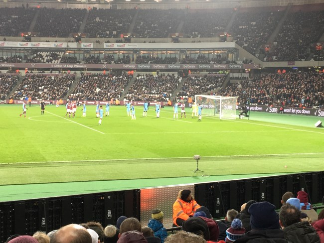 West Ham v Man City FA Cup 3rd round