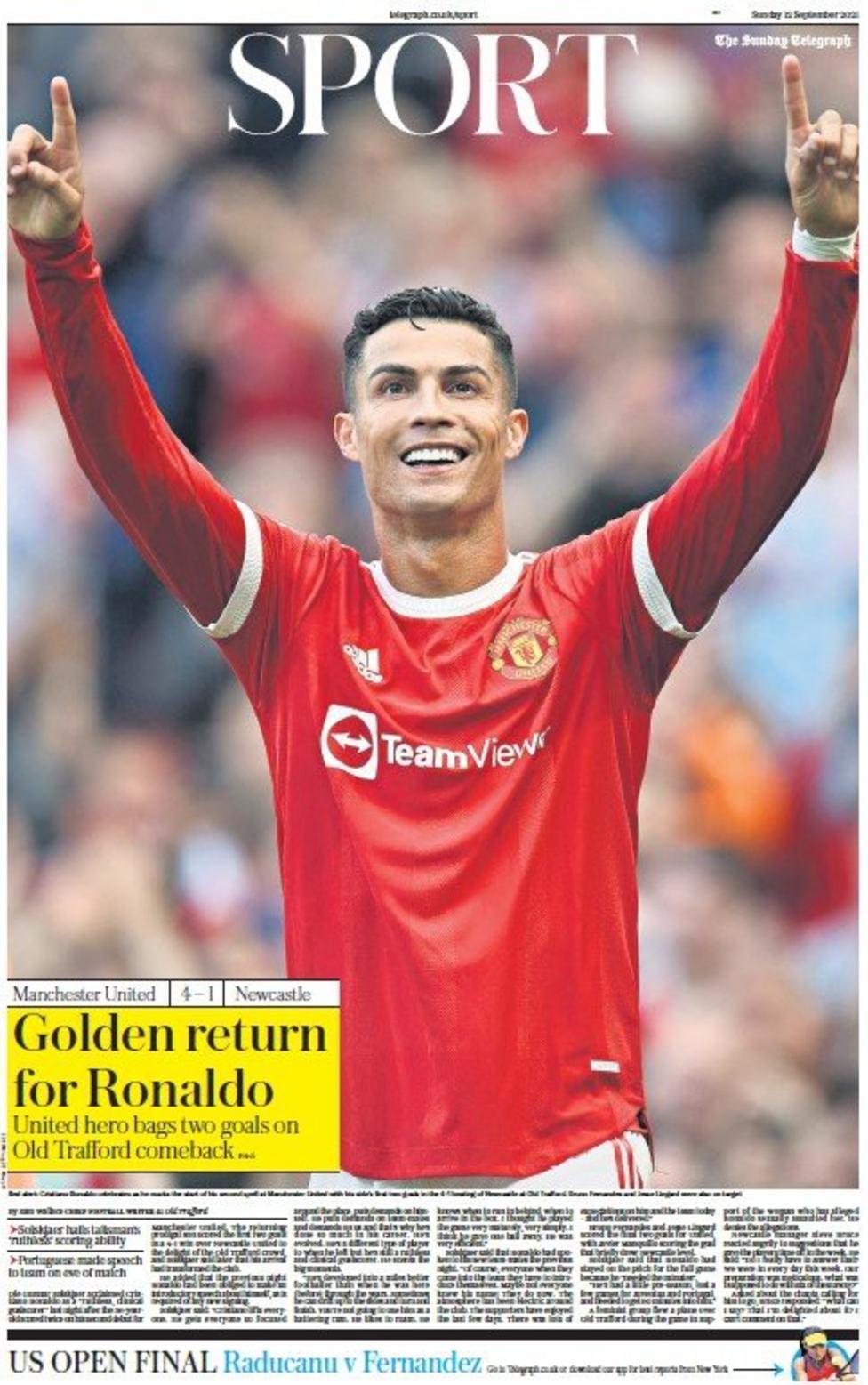 Football Newspaper Headlines: Golden Return for Ronaldo