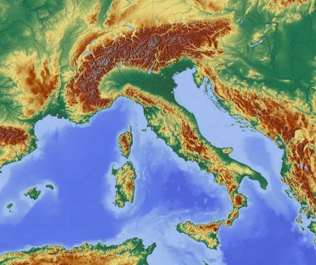 Oggi parliamo della geografia italiana. L'Italia fisica.
