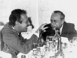 Leonardo Sciascia qui con Paolo Borsellino.