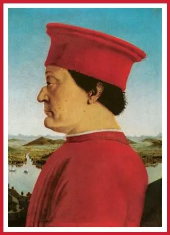 Federico da Montefeltro, Signore di Urbino.