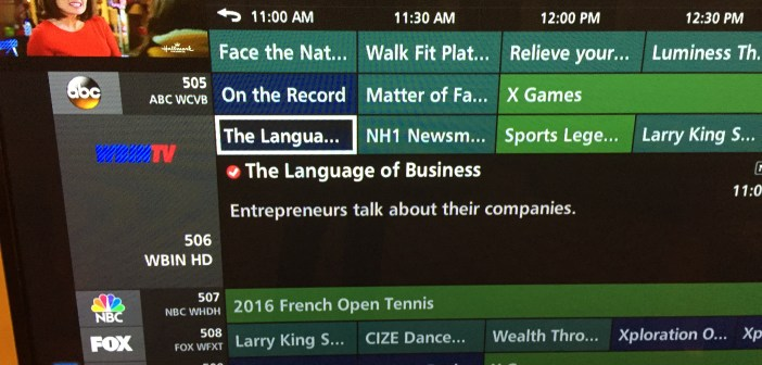 Language of Business commercial TV debut: Sunday at 11 am