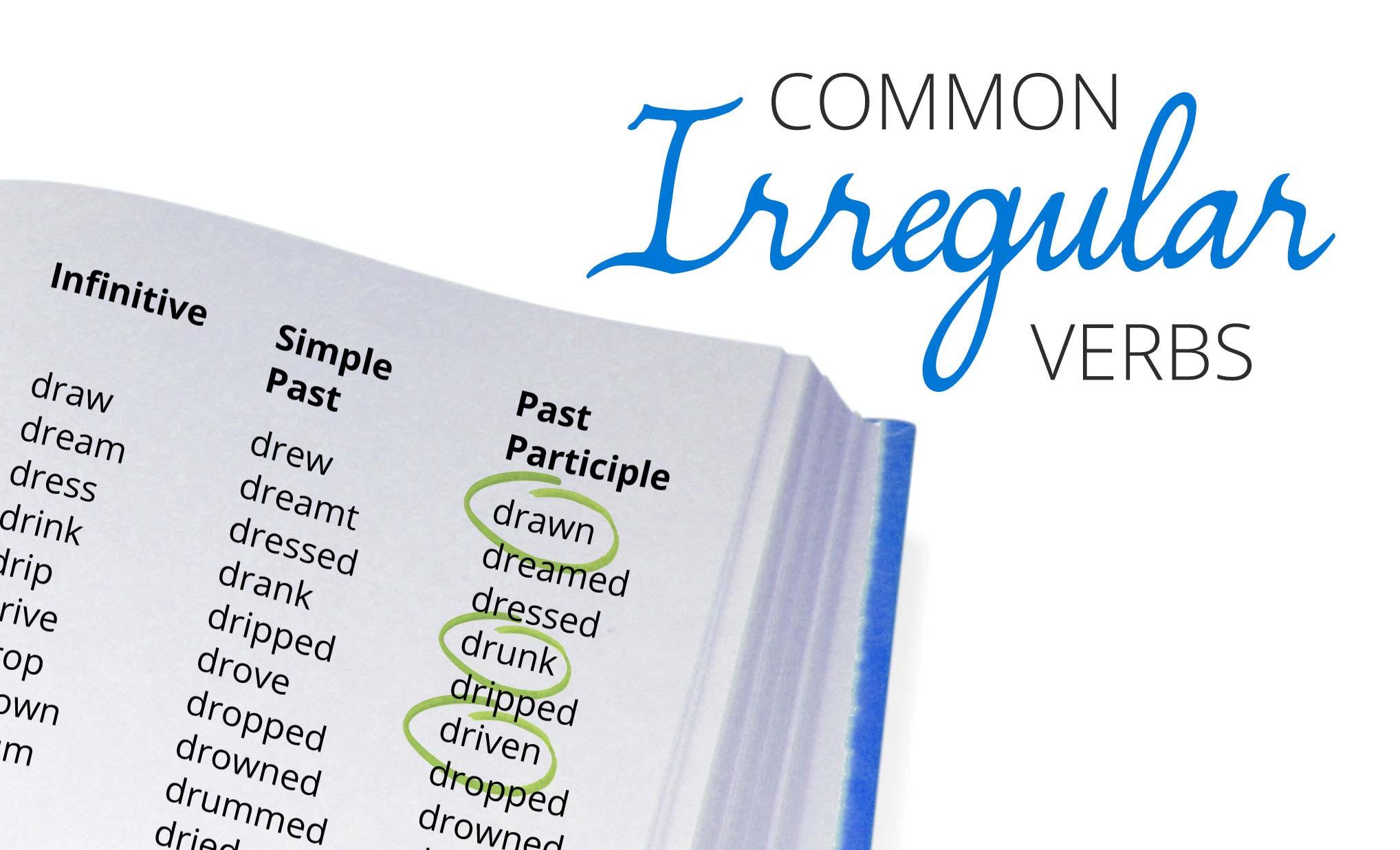 An English Irregular Verbs List