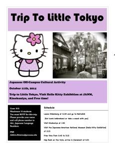 Trip to Little Tokyo