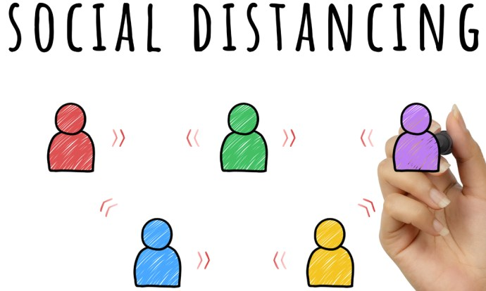Social distancing and virtual learning