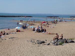 Mediterranean beach in the summer