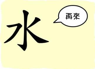 caractère chinois eau