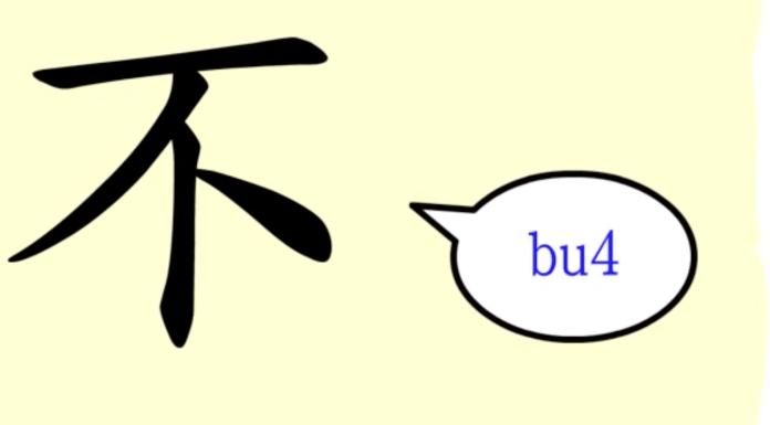 caractere chinois bu negation ne pas