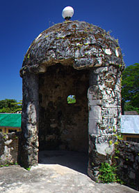 The <strong>garita</strong> or sentry box where a sentinel positioned.