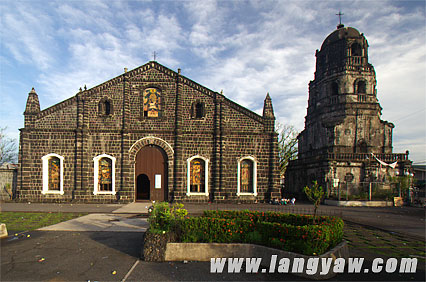 The massive belfry of Tabaco Cathedral in Albay also served as a watchtower during the height of the Muslim slave raids.