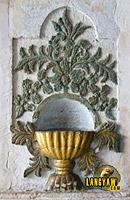 Holy water font detail inside Boljoon Church