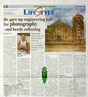 I got featured at the Philippine Daily Inquirer issue of 17 May 09