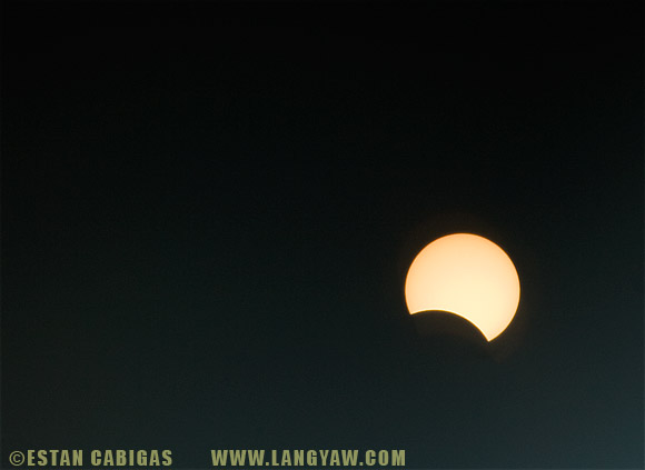 Partial solar eclipse at 1030H