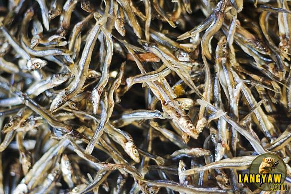 Dried anchovies at the Bantayan market