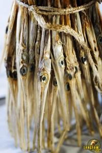 Dried bayamban in a bundle at the Bantayan market