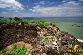 Remnants of the watchtower in Camotes Island