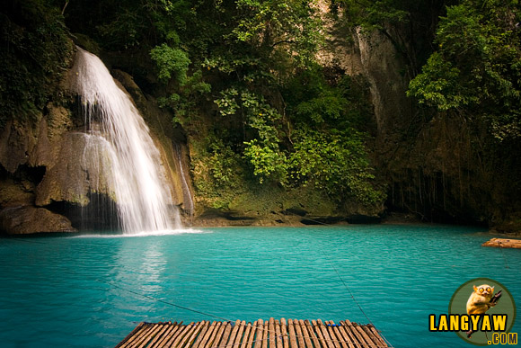 The biggest and final tier of Kawasan Falls in Badian, Cebu