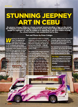Juan Magazine article on Cebu's colorful jeepneys