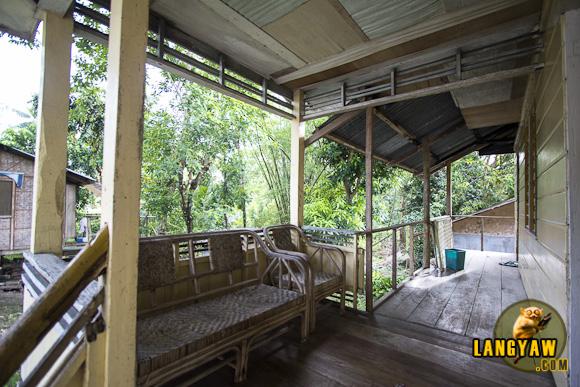 The veranda of the lodge
