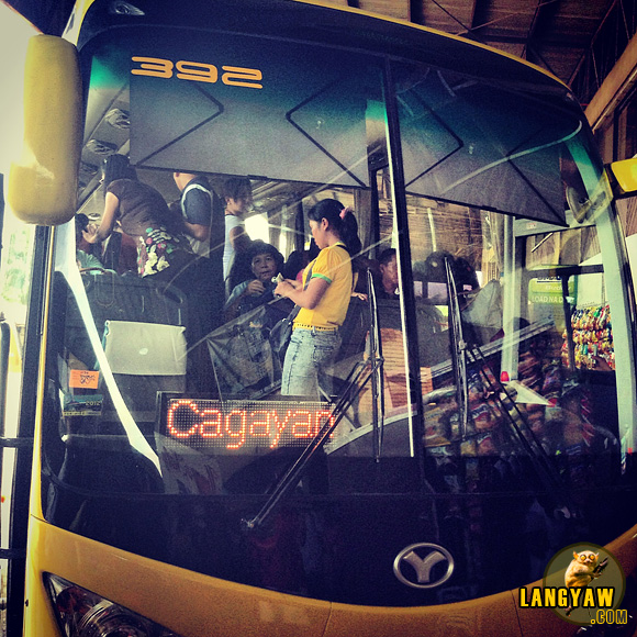 Airconditioned bus at the Butuan bus terminal