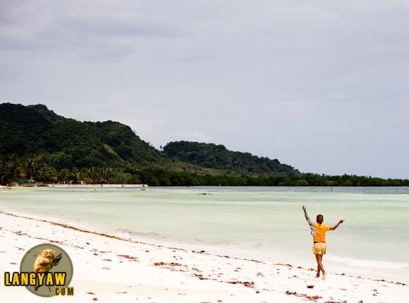 Anda's long white beach