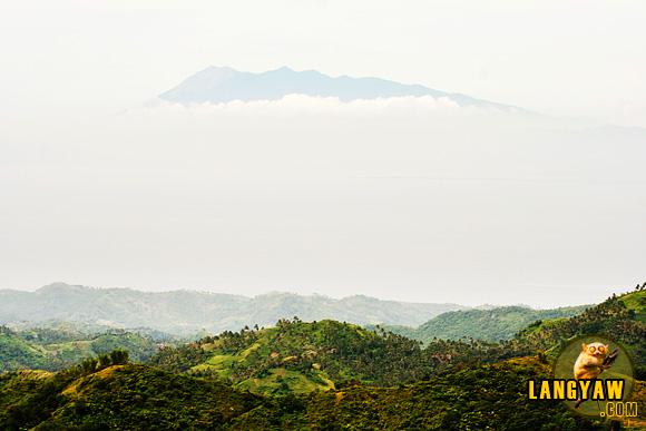 Mt. Canlaon's head above the clouds as seen from Balamban, Cebu