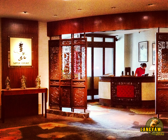 Entrance to the Lotus Court for good cantonese cuisine