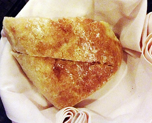 Crusty outside, soft and chewy inside, Polo Bistro's ciabatta is one of the best I've tasted hot off from the oven