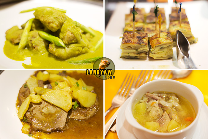 Just four of the many Spanish dishes on offer: