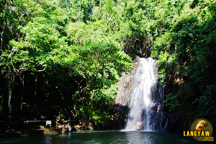 Taktak Falls is a waterfall where the water was dammed to make a pool