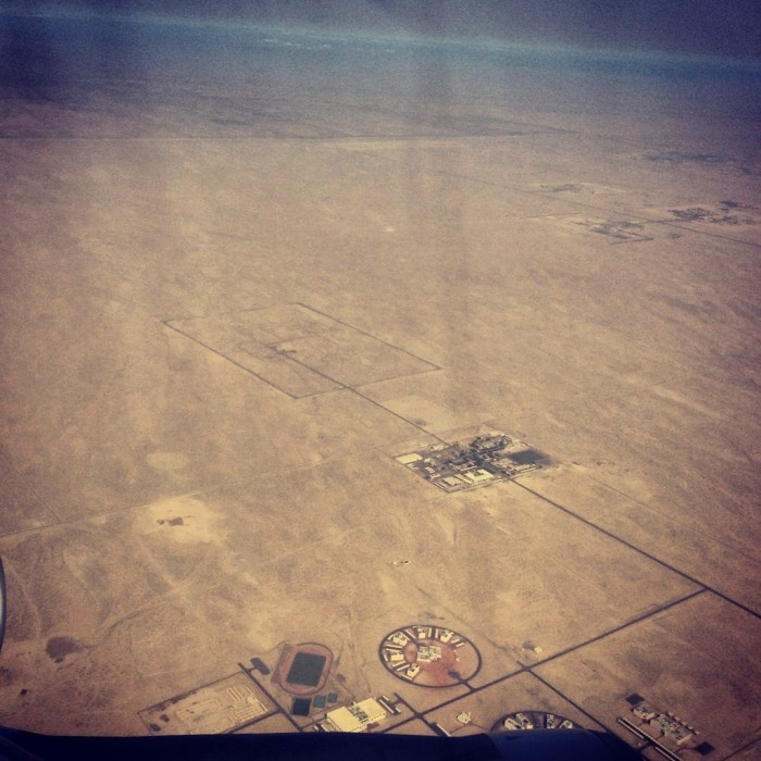 The UAE desert as seen from the plane window