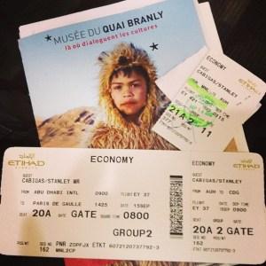 My boarding pass for this Manila - Abu Dhabi - Paris trip