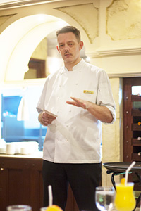 Executive Chef Simon Sperling who created these healthy food selection