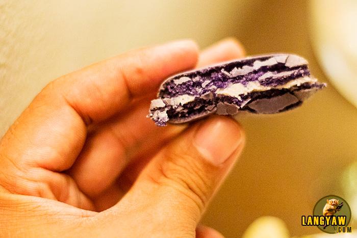 Ube macaron, marrying french dessert with purple yams