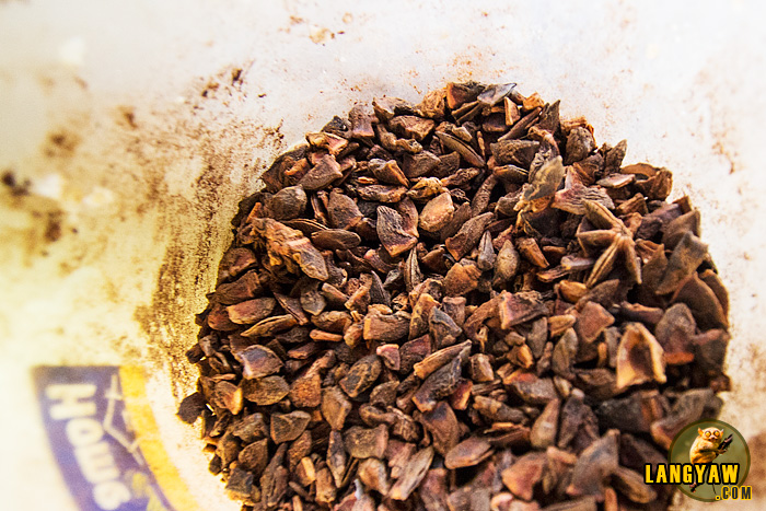 Sangke (star anise) gives flavor and a wonderful aroma on the lechon