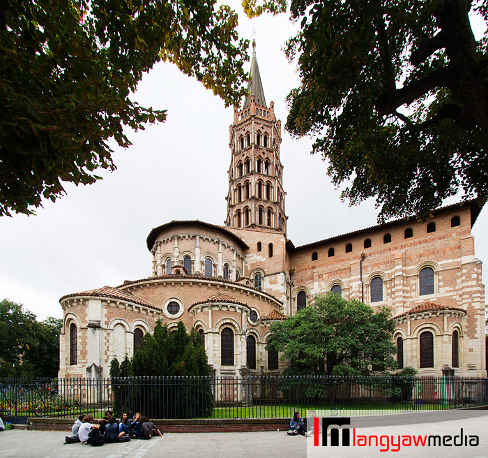 The 12th century Basilica of St. Sernin in Toulouse, France, a UNESCO World Heritage Site
