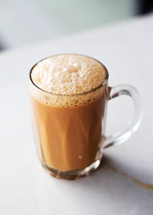 The frothy teh tarik