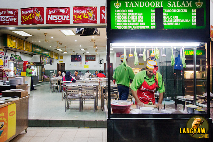Tandoori chicken at an Indian restaurant