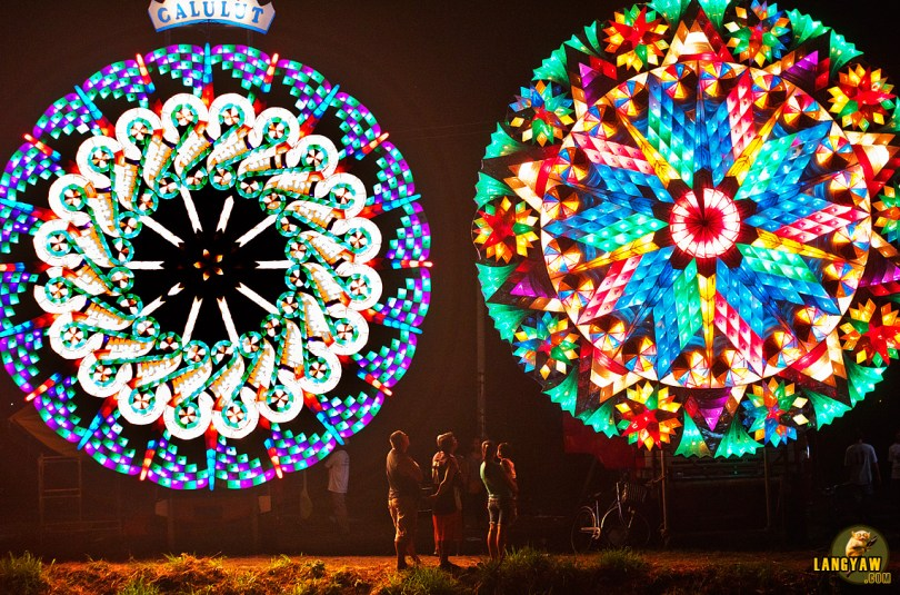 These giant lanterns, around 20 feet in diameter are entries of the different barangays of San Fernando.