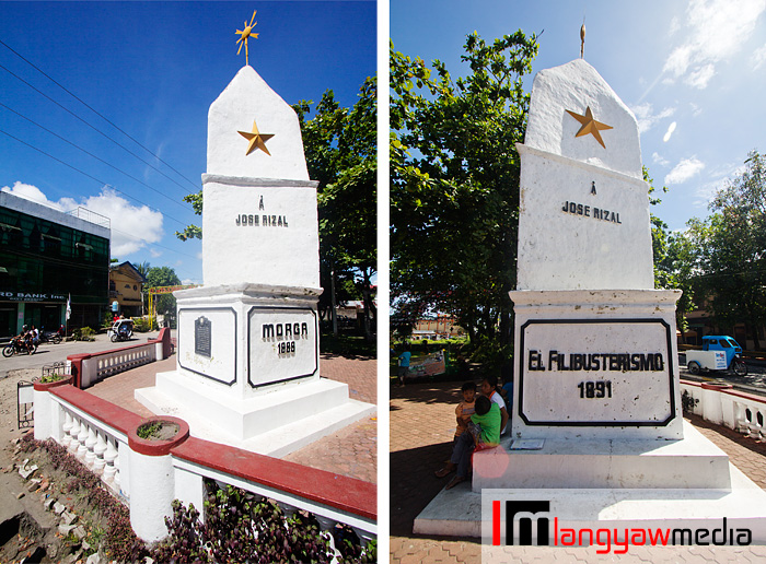 Different sides of the monument