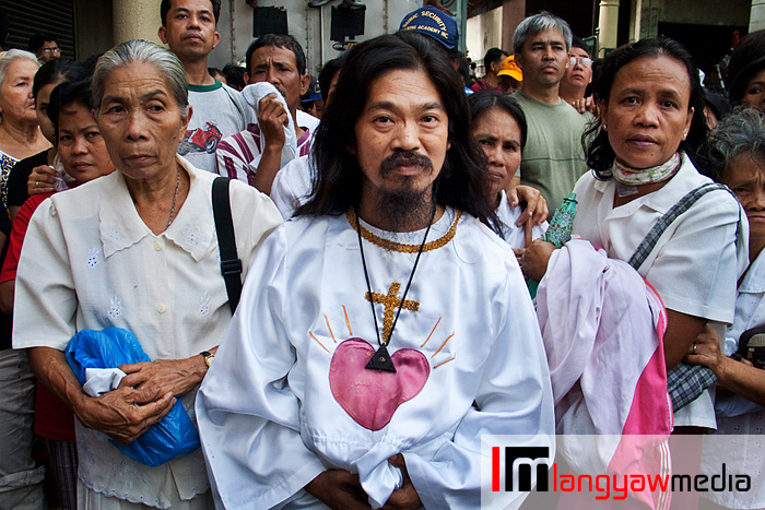Religious cult members with their flowing robes also make their presence felt