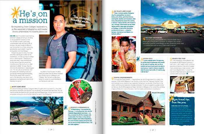 I was featured in Cebu Pacific's Smile magazine last January 2013