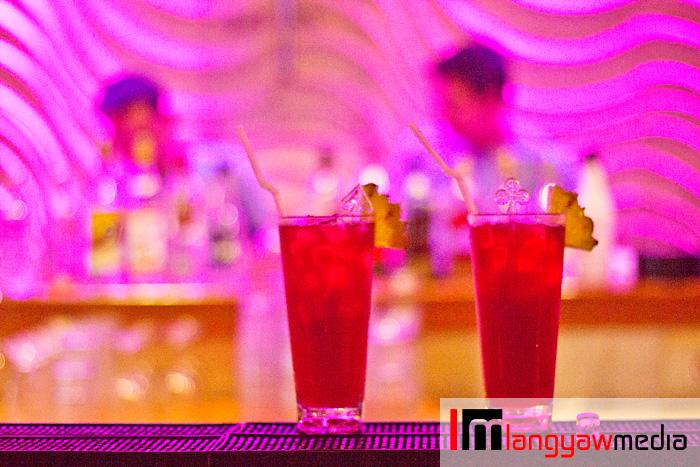 The Azure Pool Bar signature cocktails