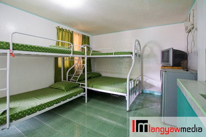 Family room with two double beds (up and down with one good for two. P2000, high season.