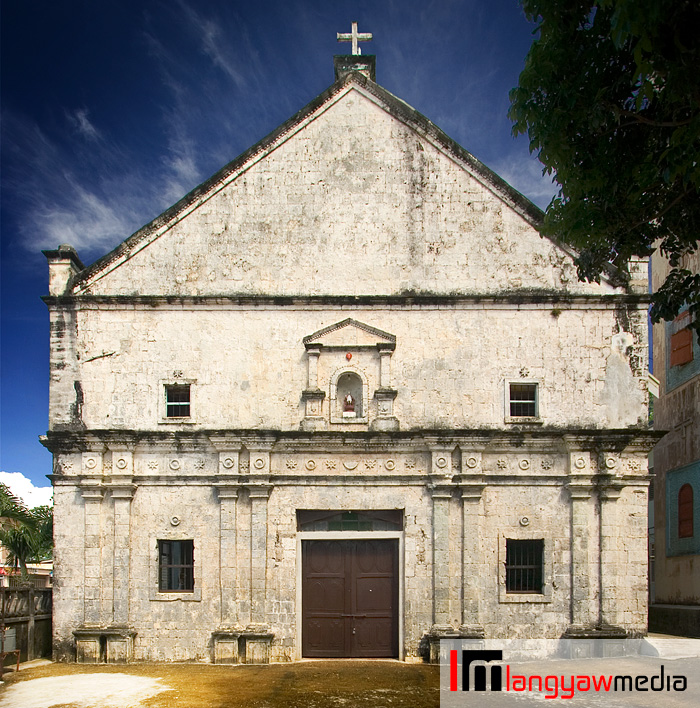 Beautiful and simple facade, Poro Church is dedicated to the Sto. Nino