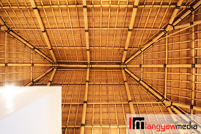 The beautiful underside of the roof