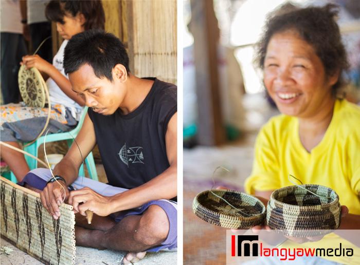 Mangyans working on their wares